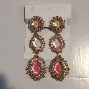 Kendra Scott aria earrings rose gold